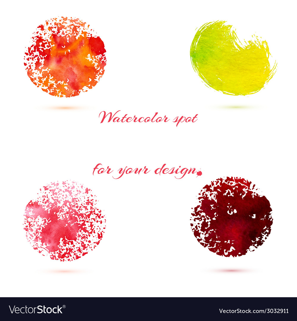 Watercolor brush strokes and circle splashes vector | Price: 1 Credit (USD $1)