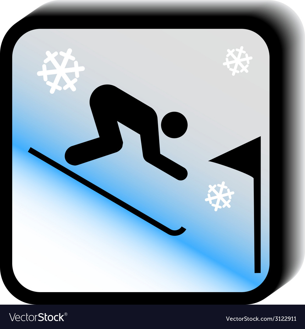 Winter icon -slalom vector | Price: 1 Credit (USD $1)