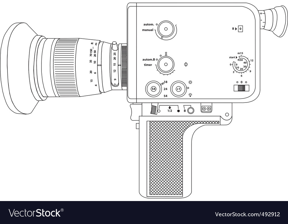 Cine camera vector | Price: 1 Credit (USD $1)