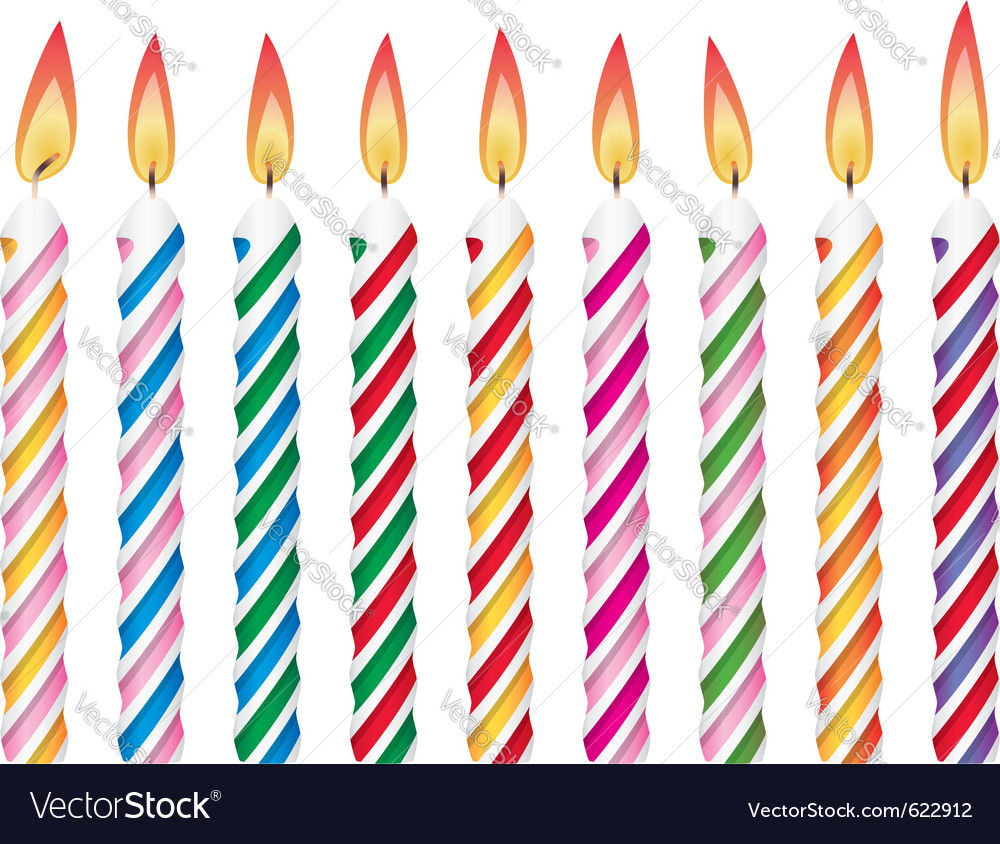 Colorful birthday candles vector | Price: 1 Credit (USD $1)