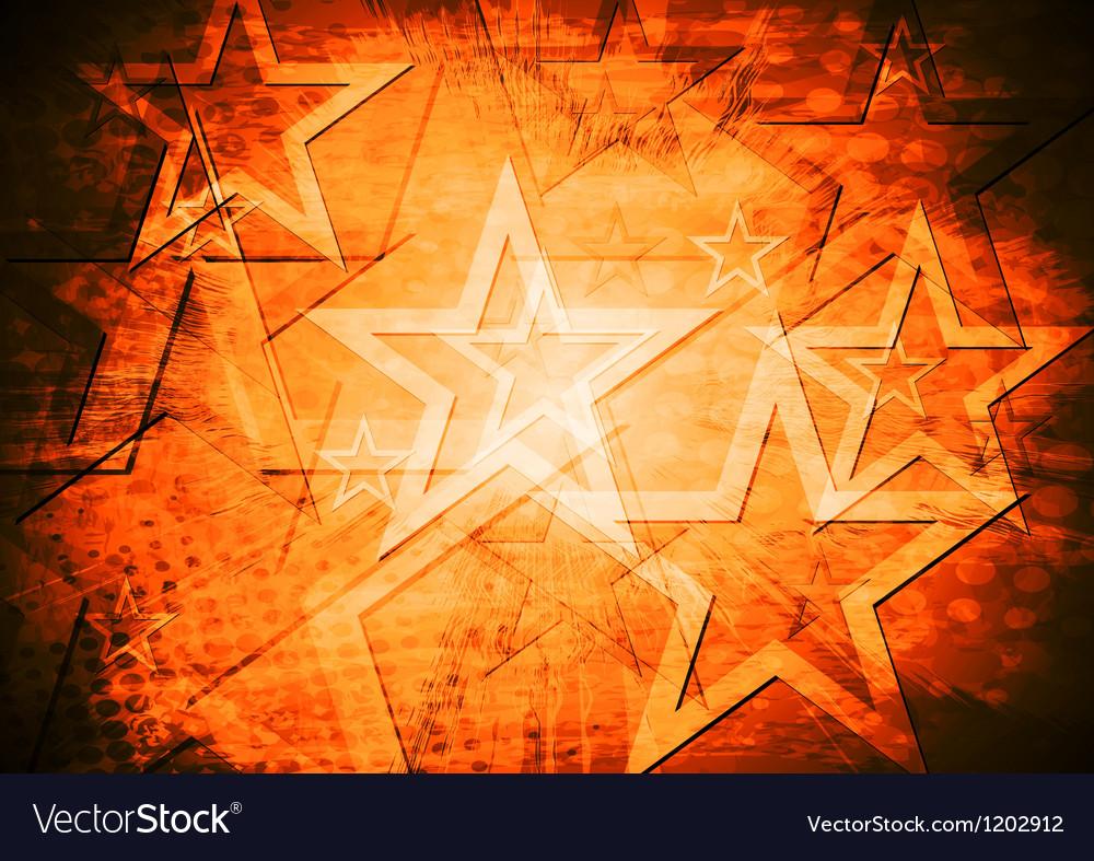 Grunge stars background vector   Price: 1 Credit (USD $1)