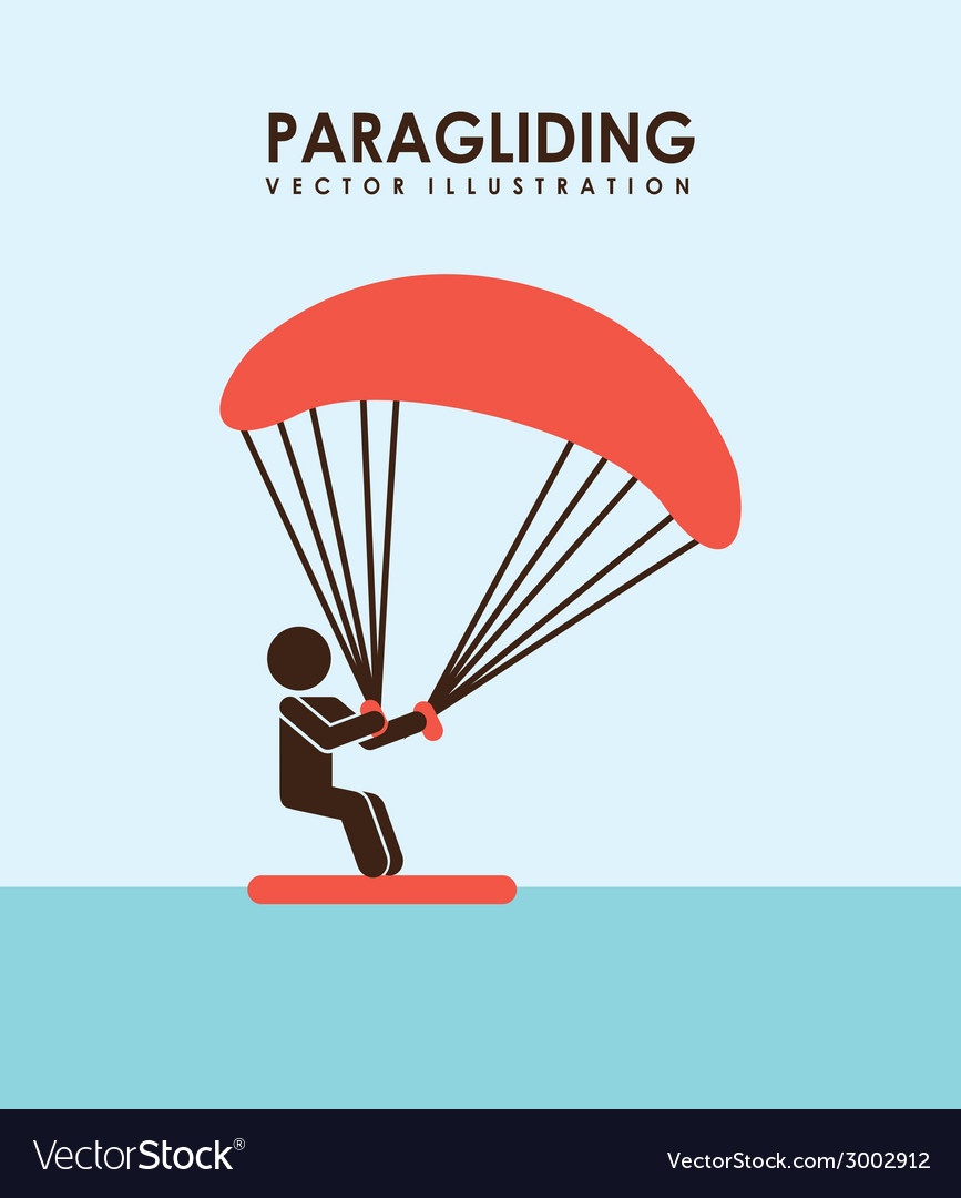 Paragliding design vector | Price: 1 Credit (USD $1)