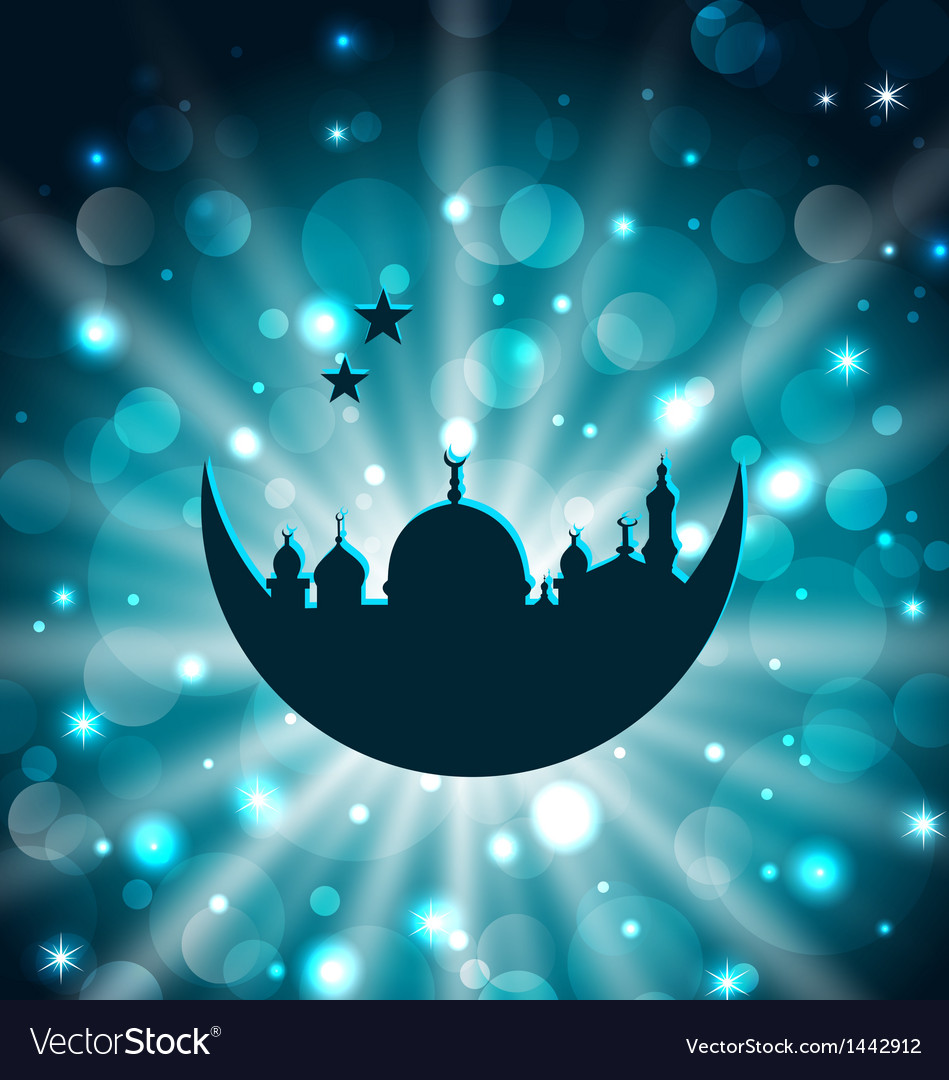 Ramadan celebration islamic card with architecture vector | Price: 1 Credit (USD $1)