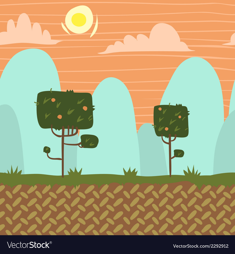 Seamnless forest garden game background vector | Price: 1 Credit (USD $1)