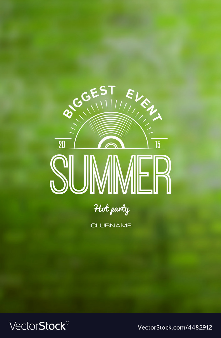 Summer biggest event label logo on the background vector | Price: 1 Credit (USD $1)