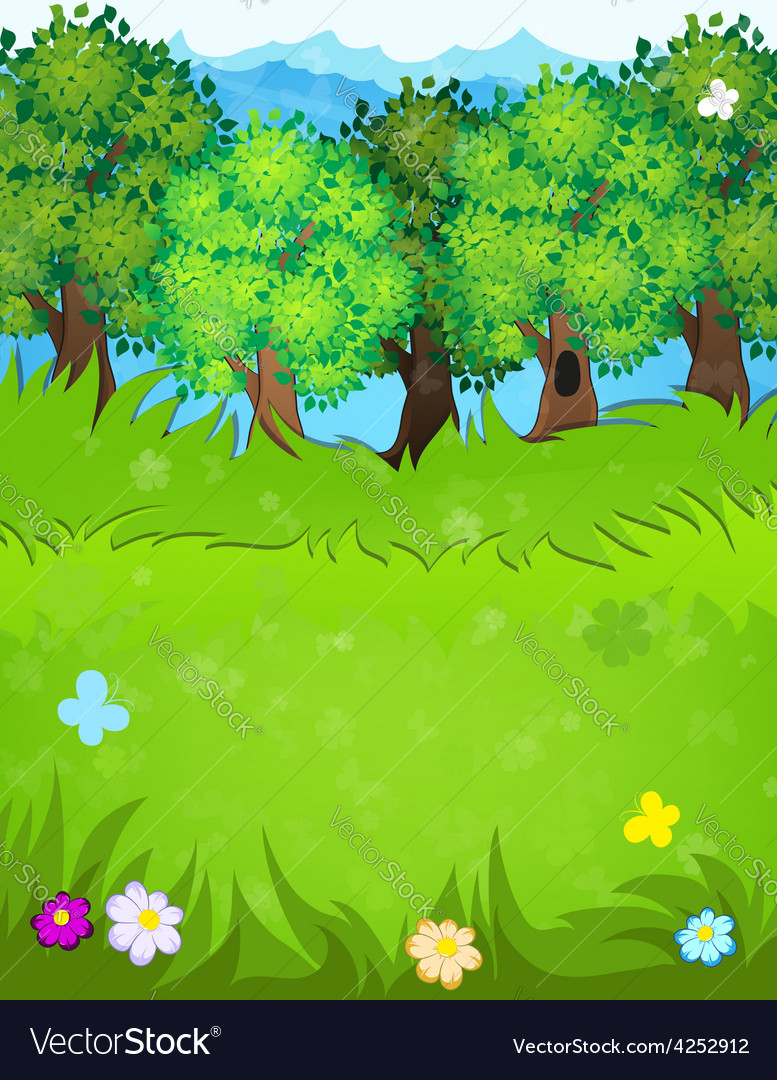 Summer forest vector | Price: 3 Credit (USD $3)