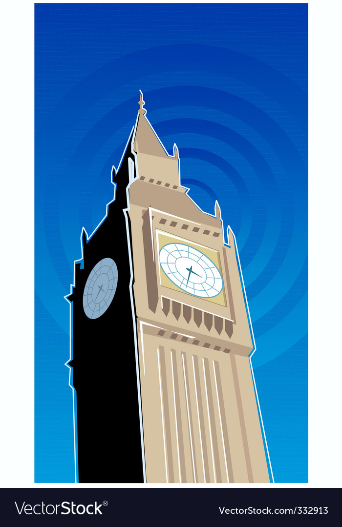 Ben clock tower vector | Price: 1 Credit (USD $1)