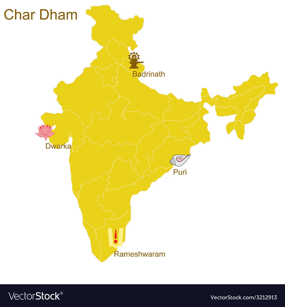 Char dham vector | Price: 1 Credit (USD $1)