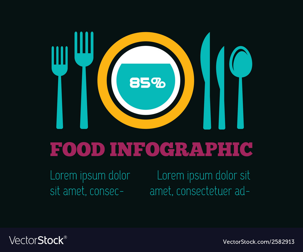 Food infographic element vector | Price: 1 Credit (USD $1)