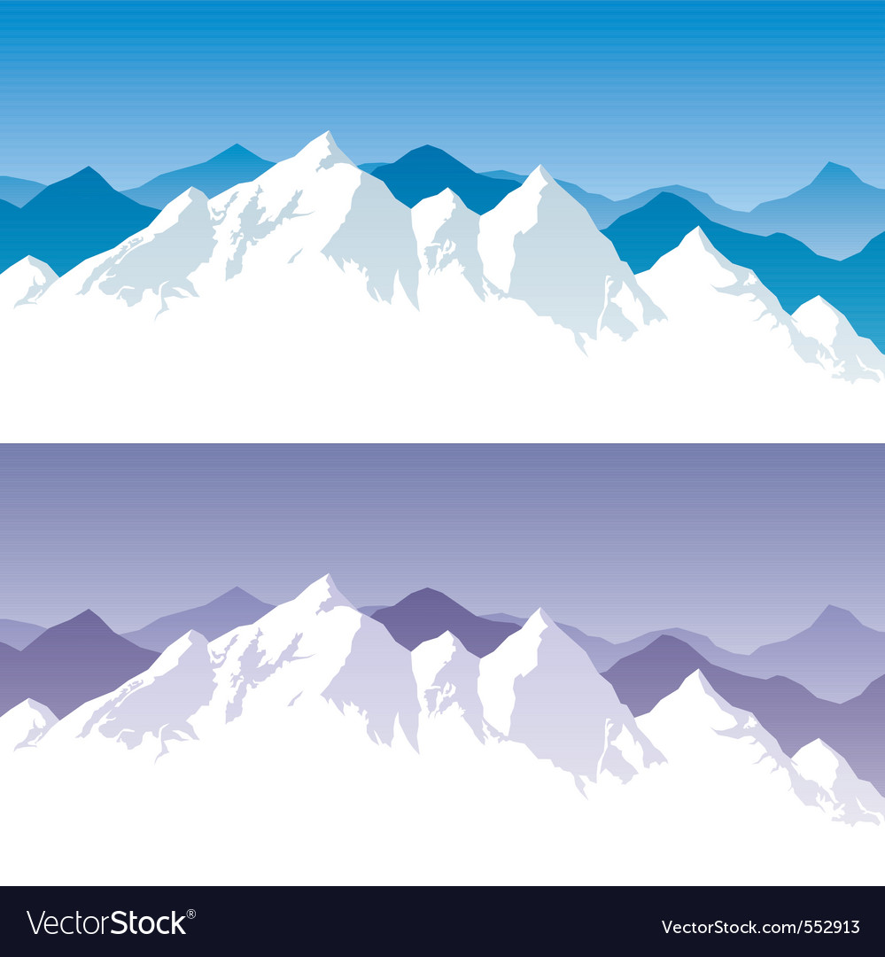 Mountain range vector | Price: 1 Credit (USD $1)