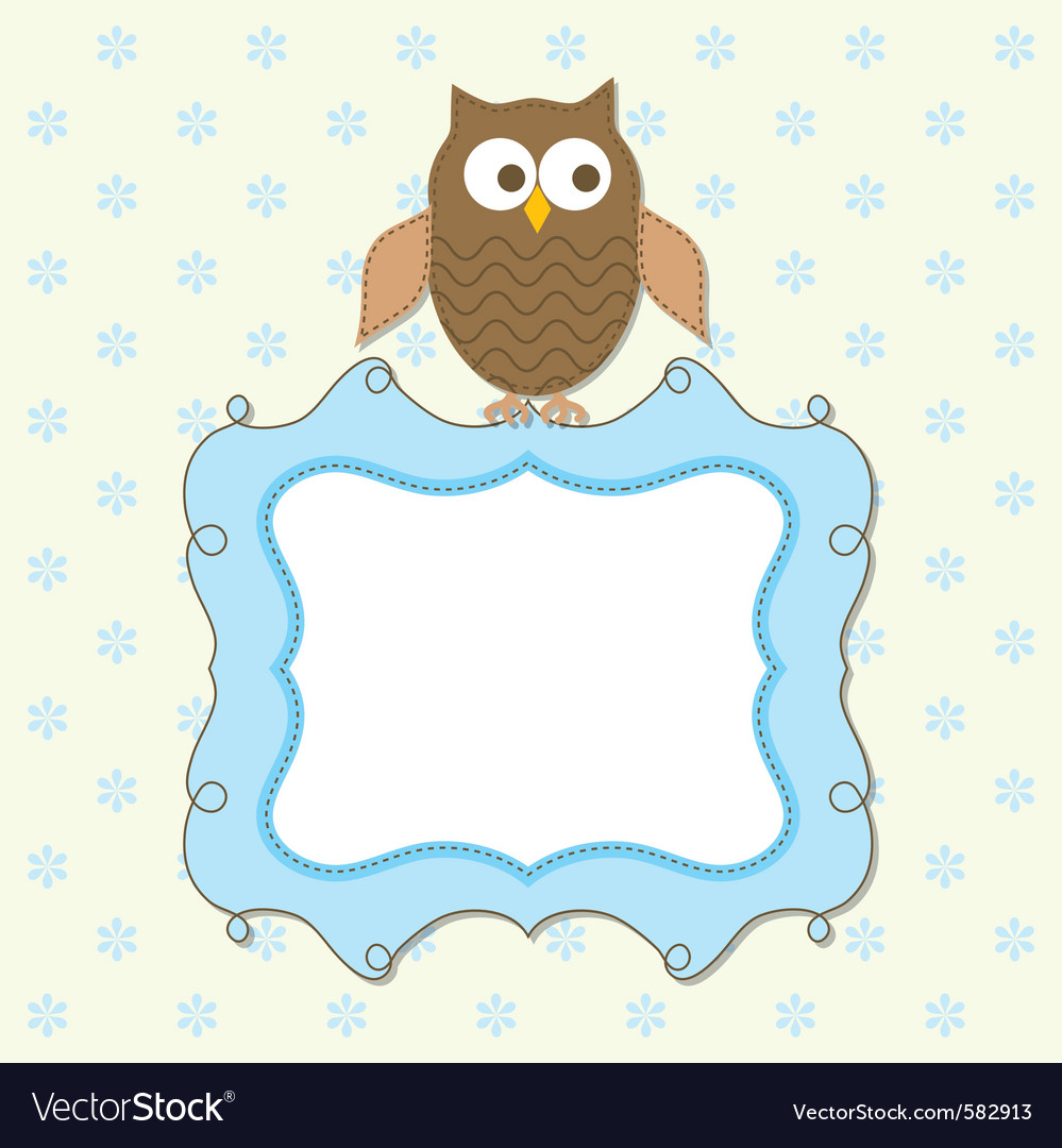 Owl frame vector | Price: 1 Credit (USD $1)