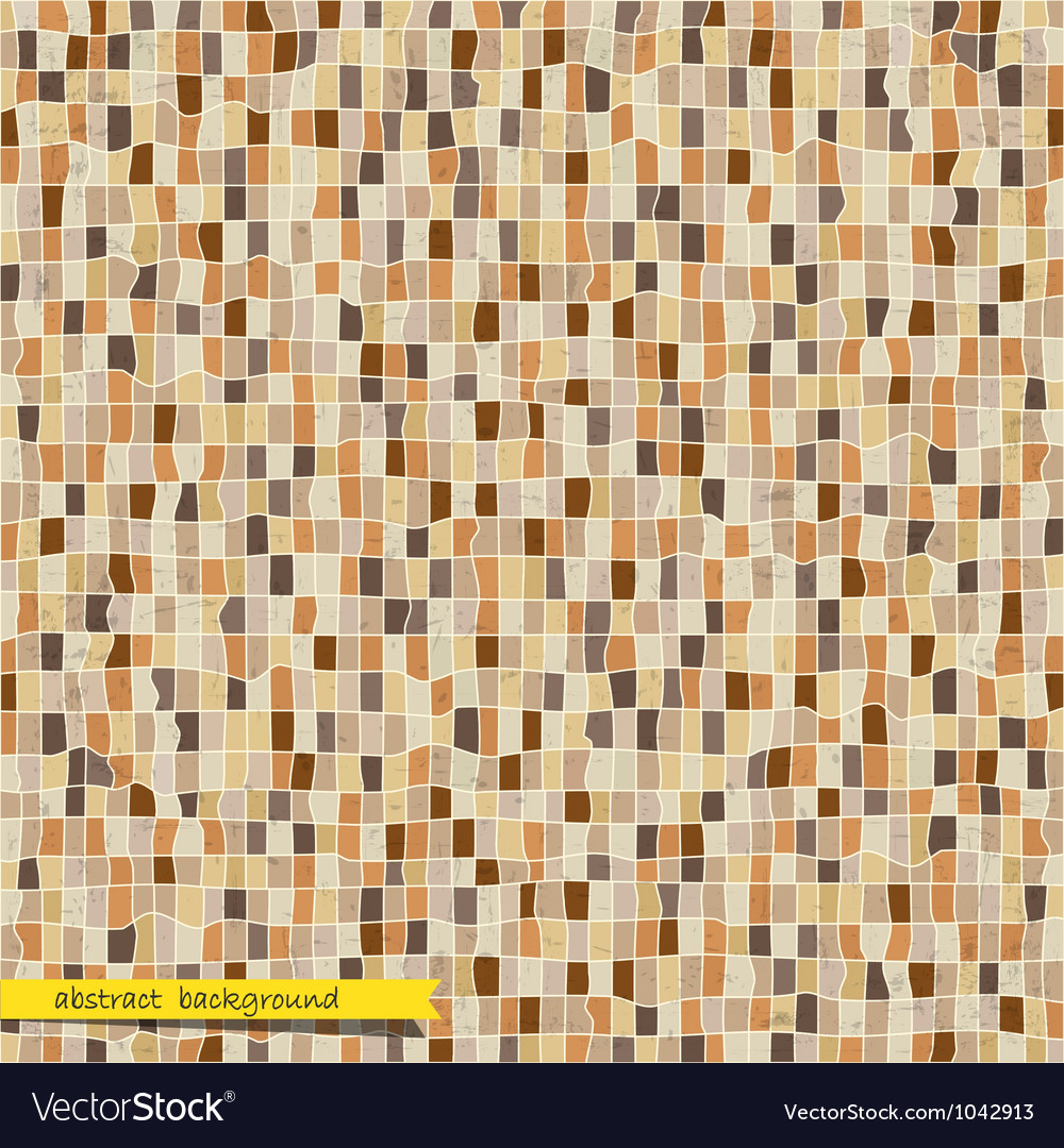 Retro abstract mosaic background vector | Price: 1 Credit (USD $1)