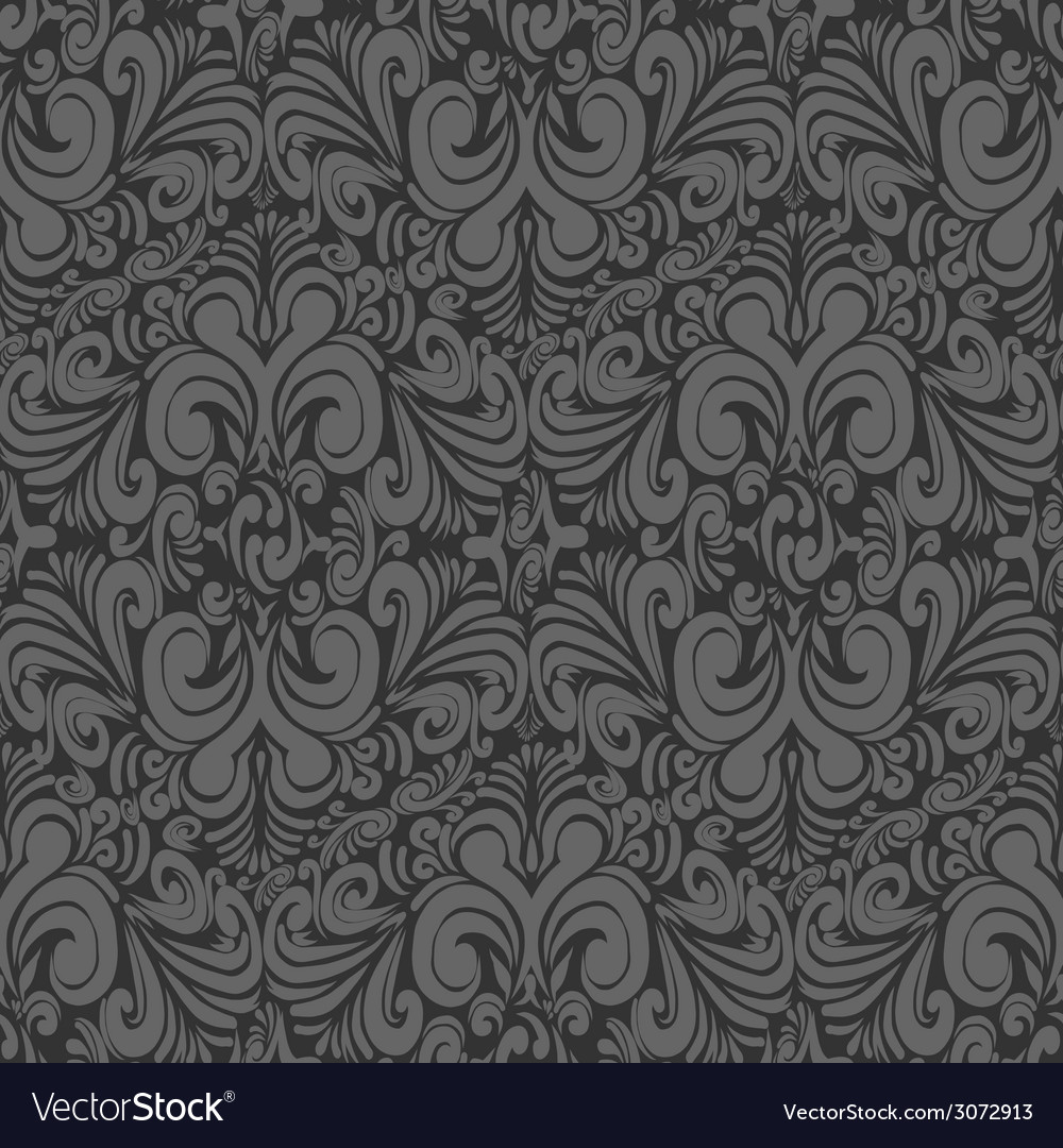 Seamless vintage dark gray background vector | Price: 1 Credit (USD $1)