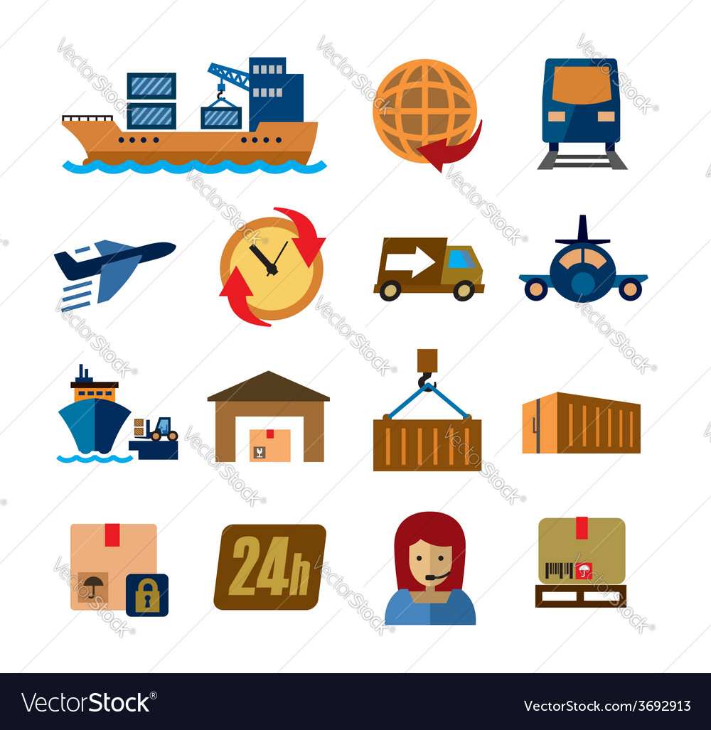 Shipping and cargo vector | Price: 1 Credit (USD $1)
