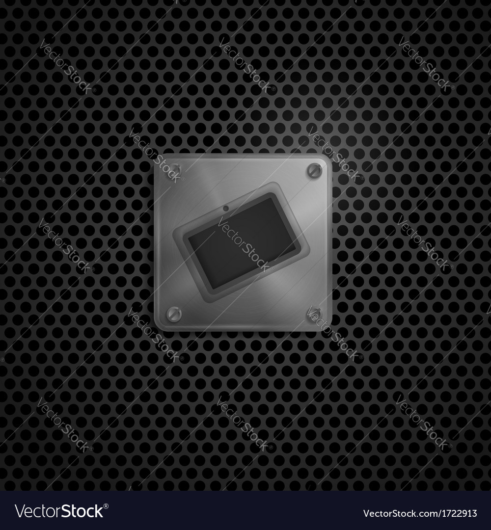 Smart phone  tablet pc metal texture vector | Price: 1 Credit (USD $1)