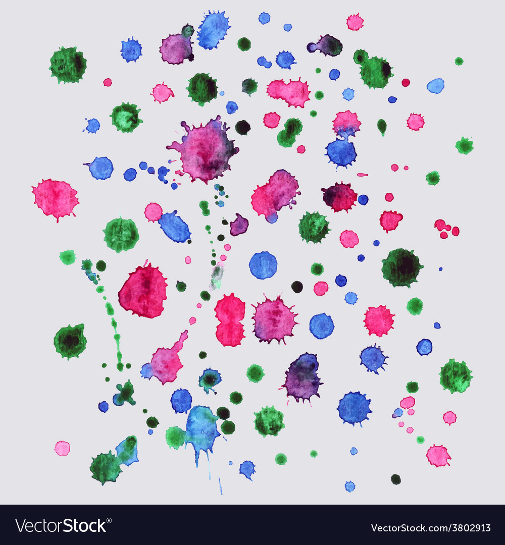 Spray paint watercolor splash backgroundcolorful vector | Price: 1 Credit (USD $1)