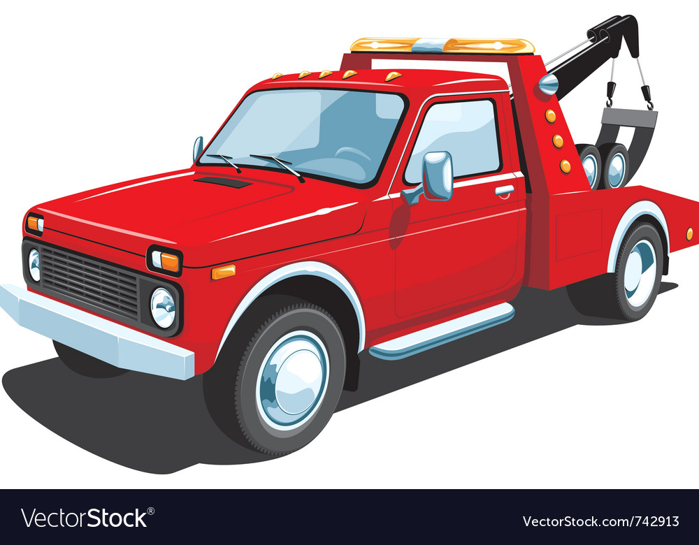 Tow truck vector | Price: 5 Credit (USD $5)