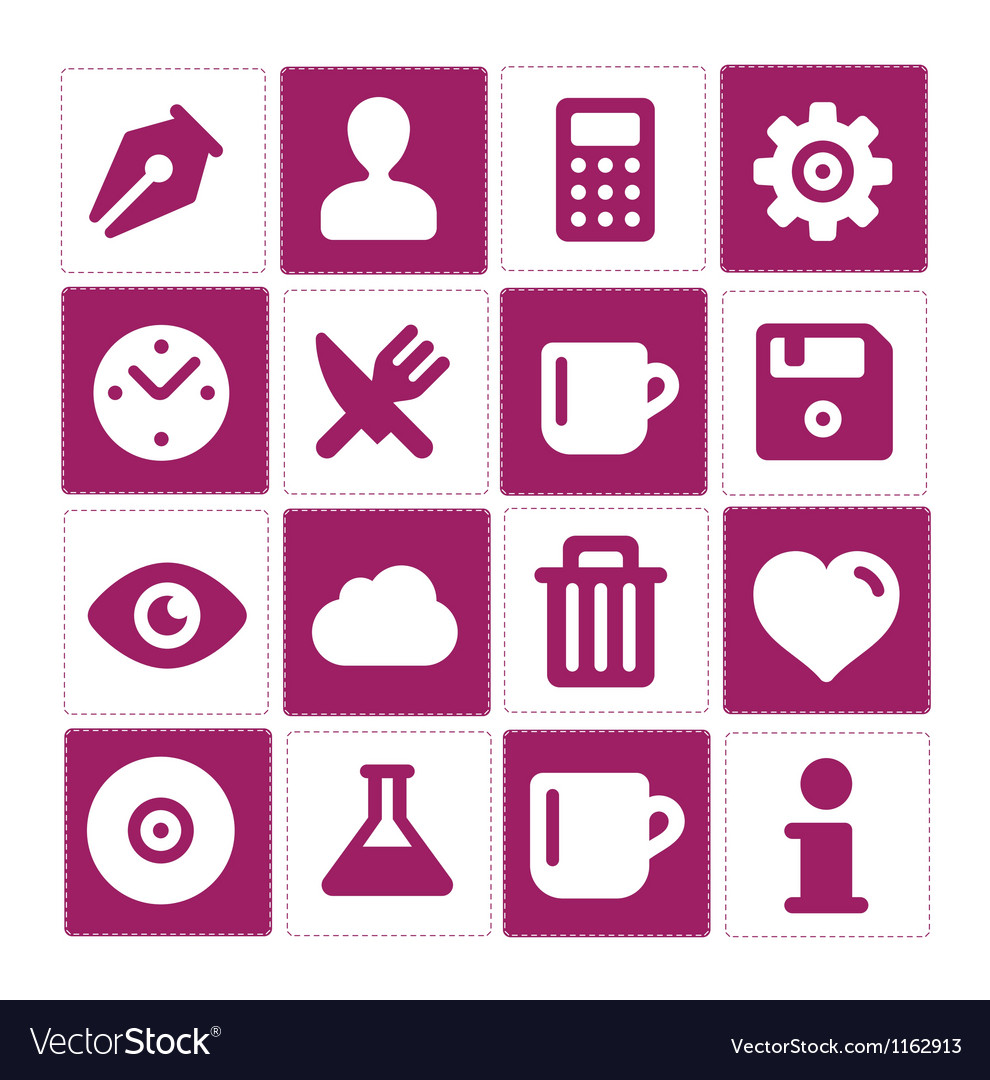 Web and simple pictograms set isolated vector | Price: 1 Credit (USD $1)