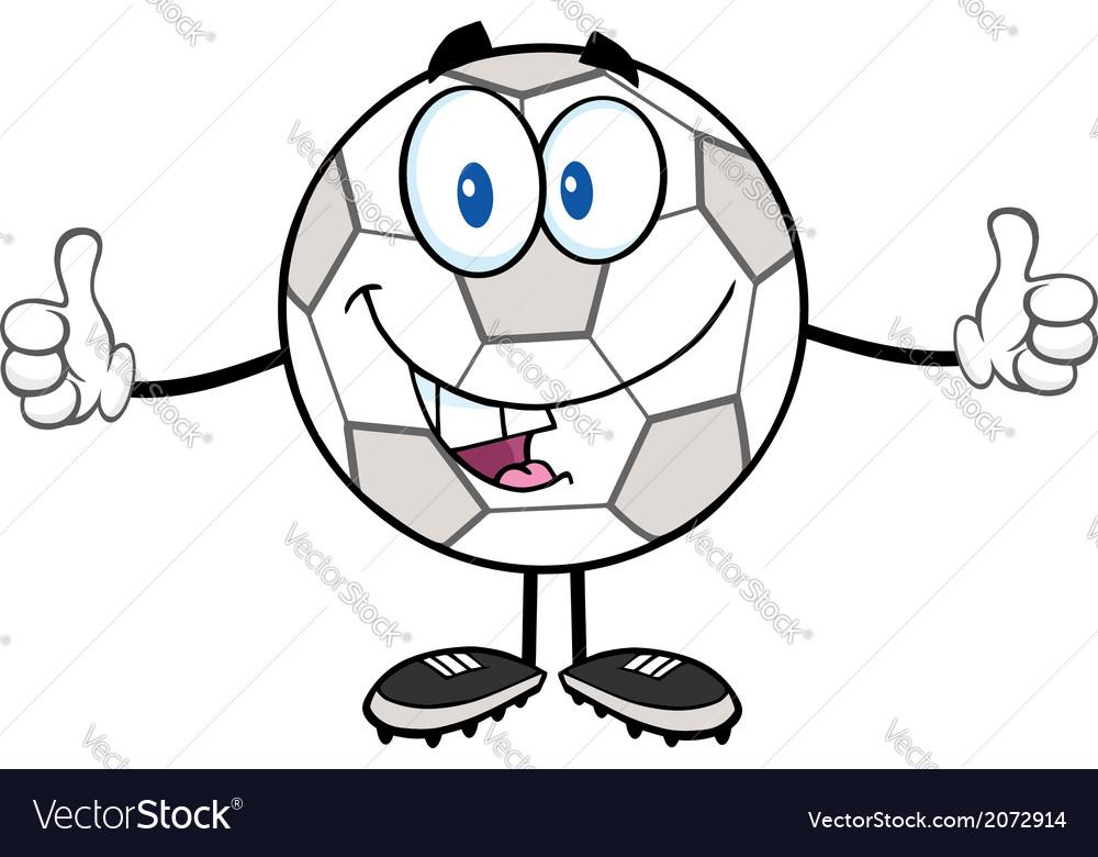 Cartoon soccer ball vector | Price: 1 Credit (USD $1)