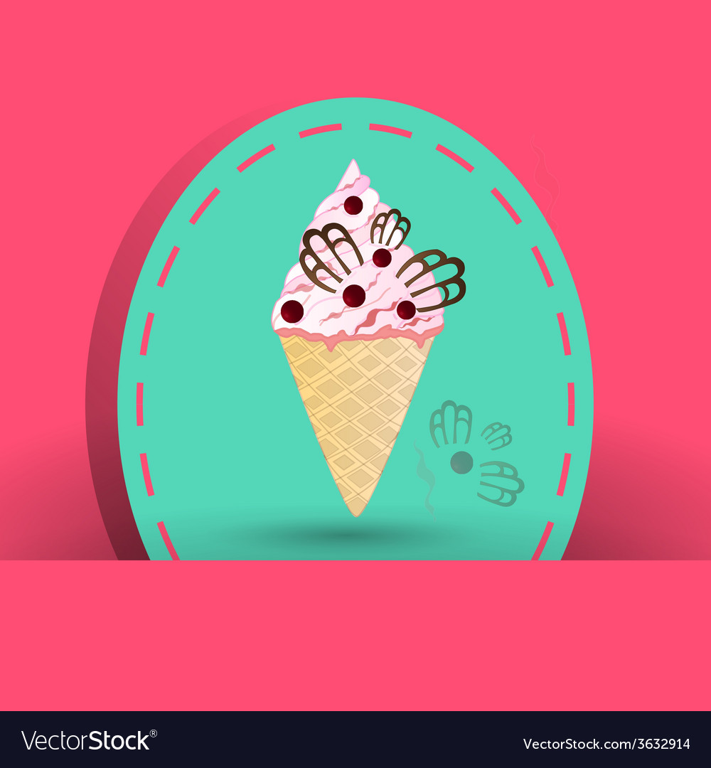Cranberries icecream on the pink background vector | Price: 1 Credit (USD $1)