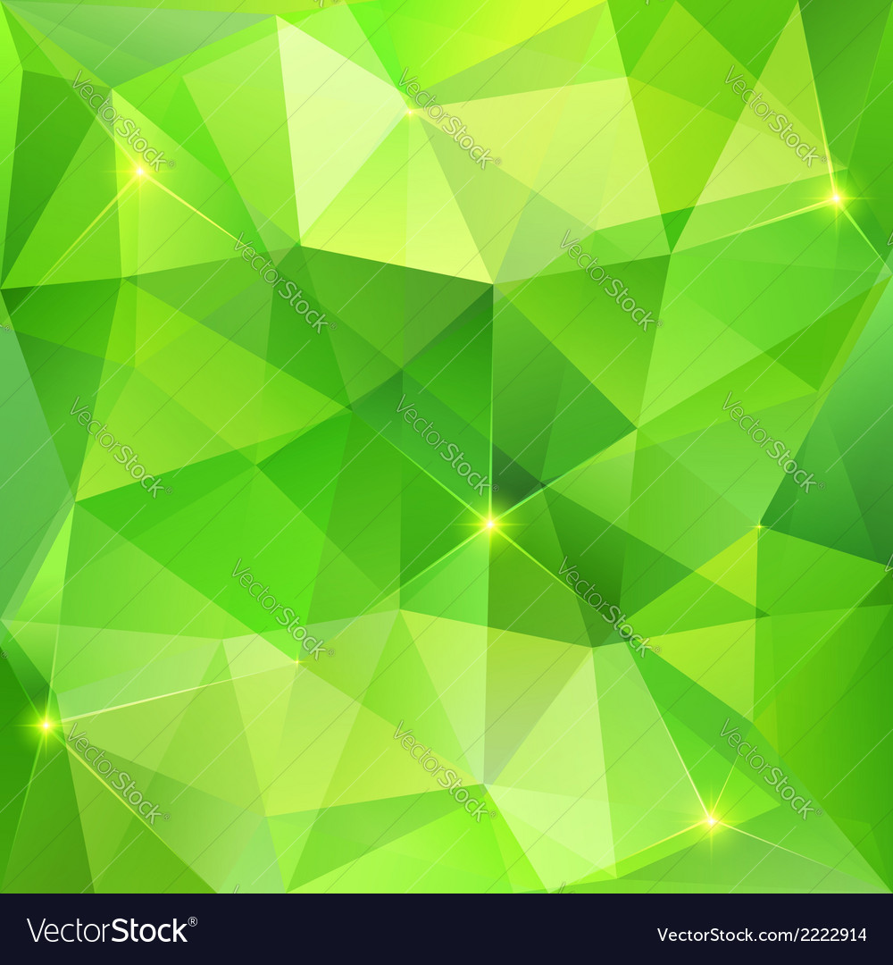 Green abstract crystal background vector | Price: 1 Credit (USD $1)