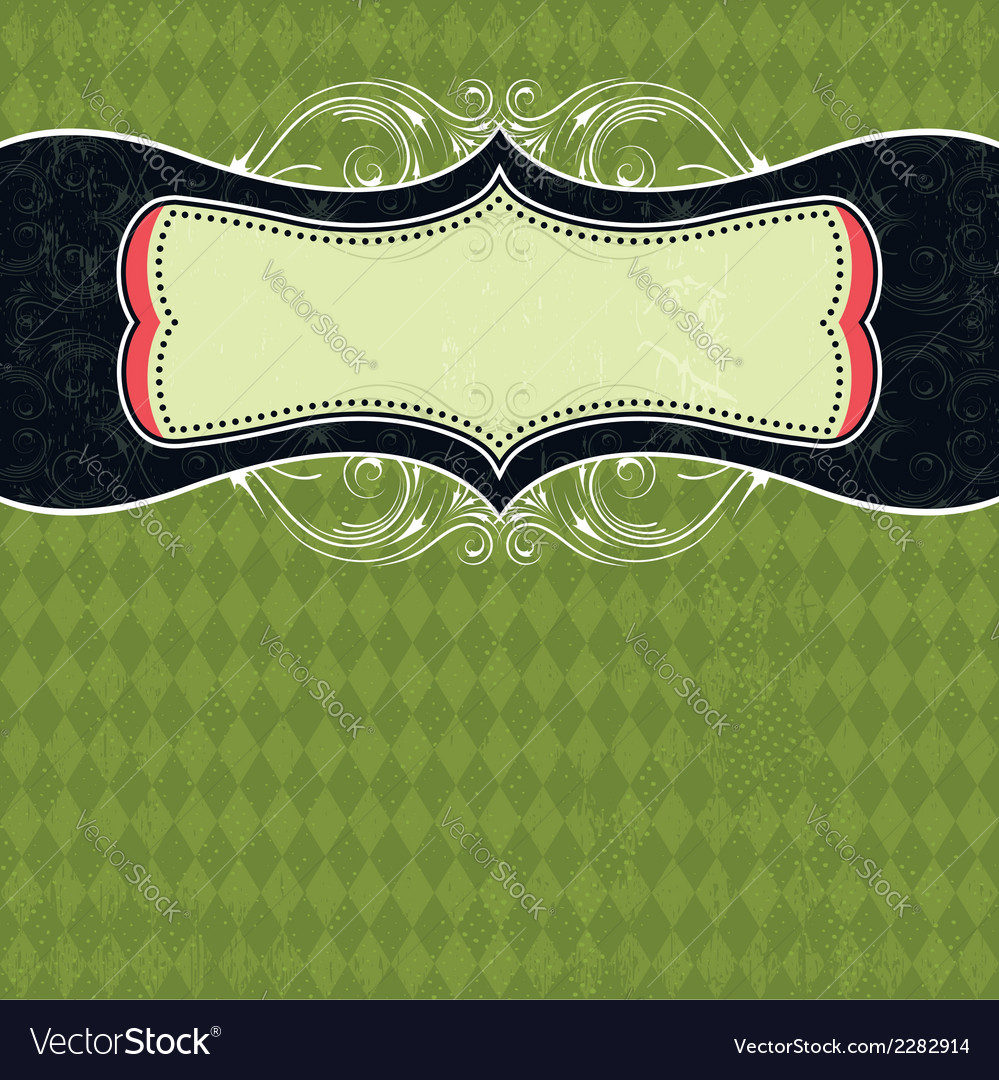 Green background with label vector | Price: 1 Credit (USD $1)