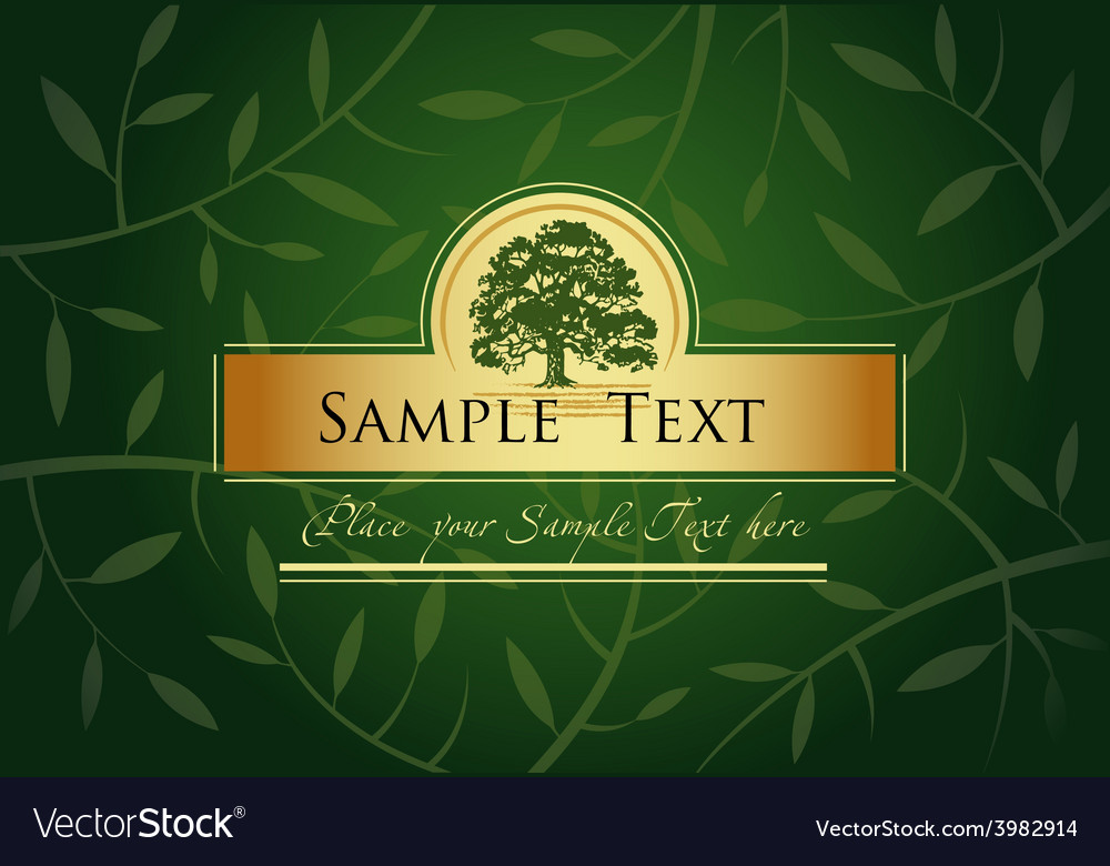 Green greeting card vector | Price: 3 Credit (USD $3)