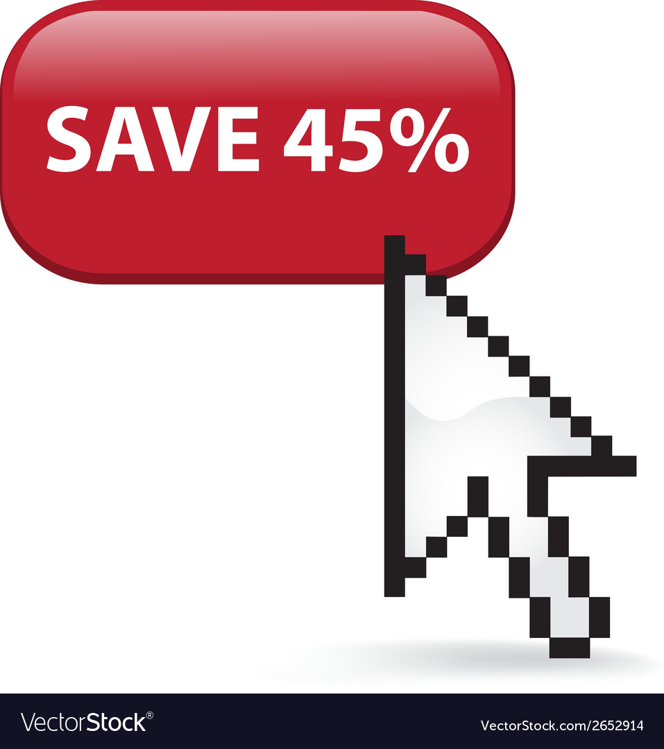 Save 45 button click vector | Price: 1 Credit (USD $1)