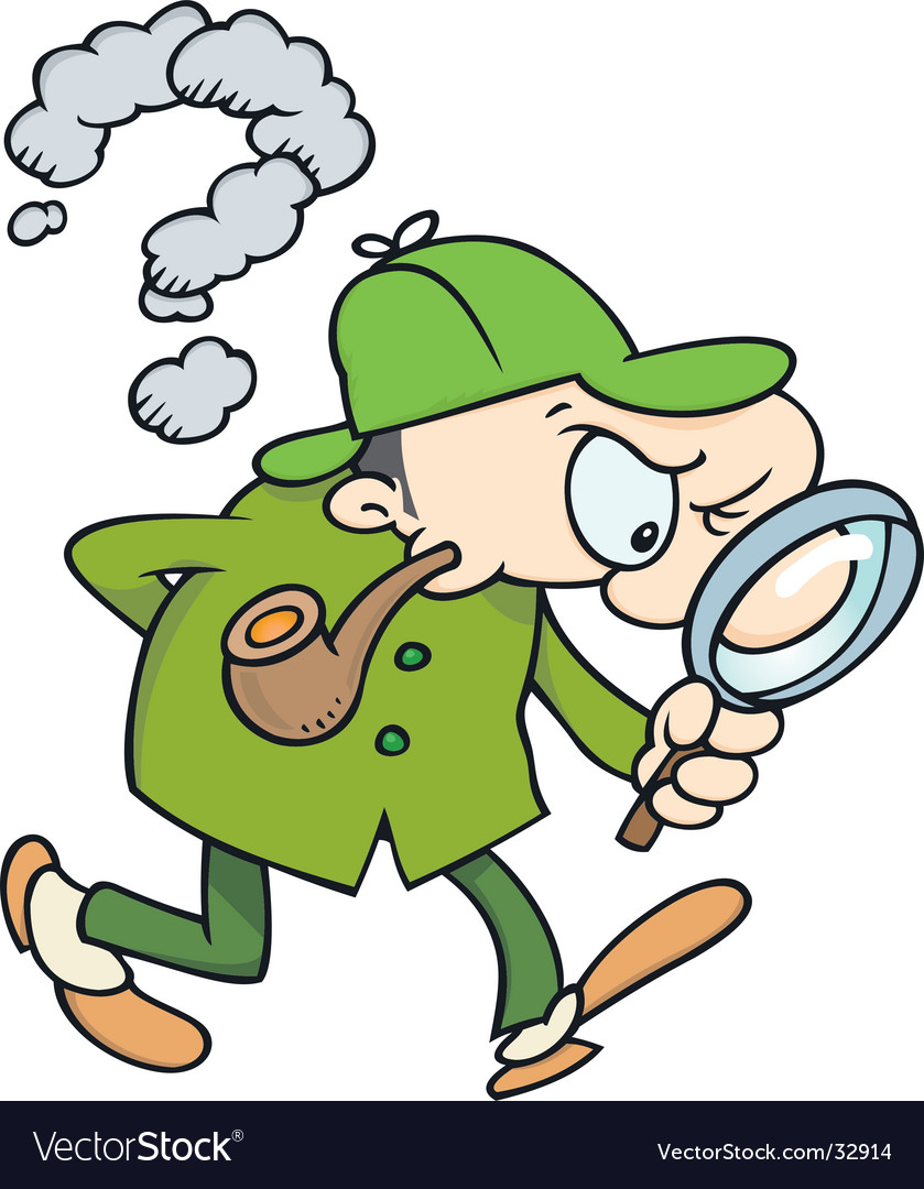 Sherlock holmes searching for clues vector | Price: 1 Credit (USD $1)