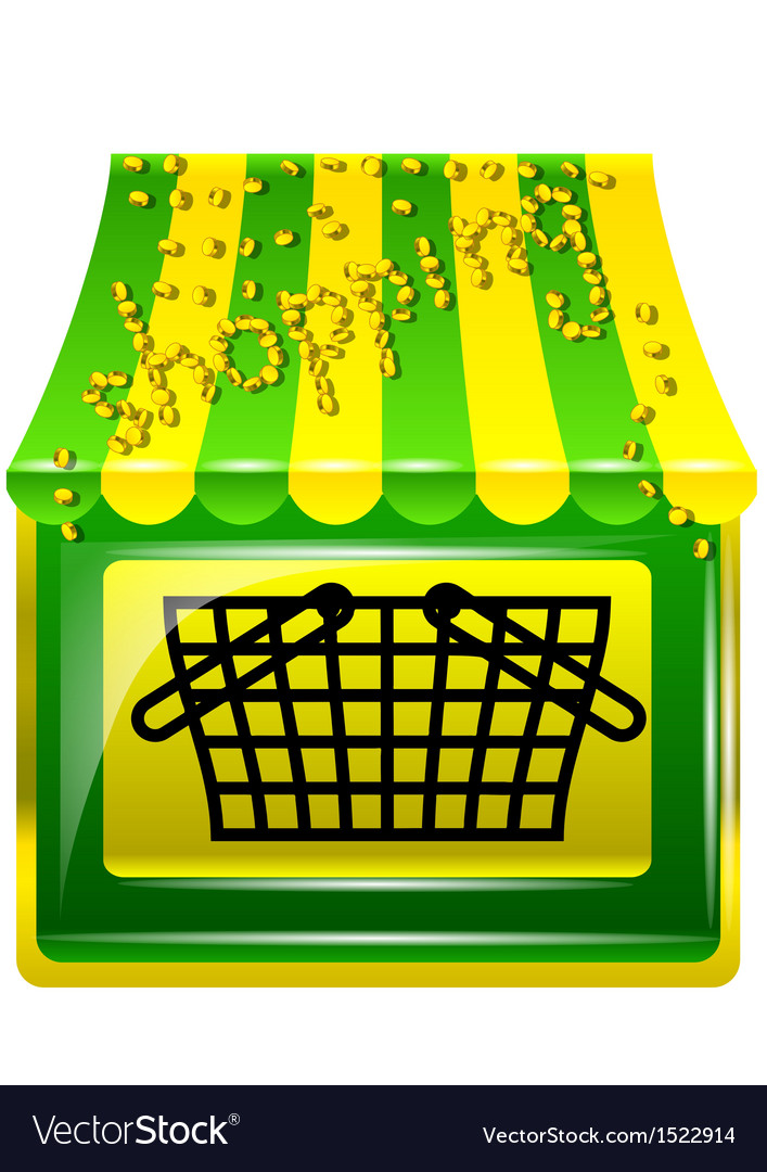 Shopping store icon vector | Price: 1 Credit (USD $1)