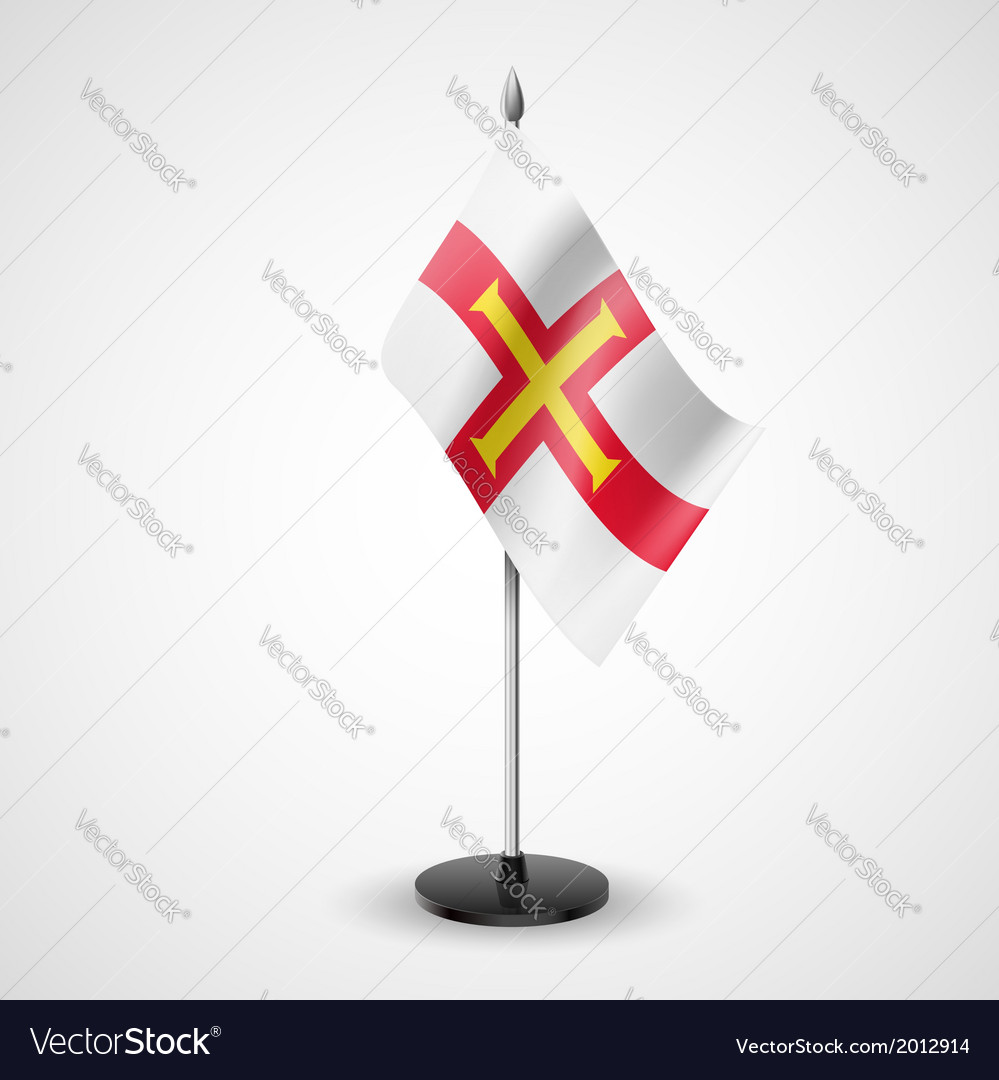 Table flag of guernsey vector | Price: 1 Credit (USD $1)