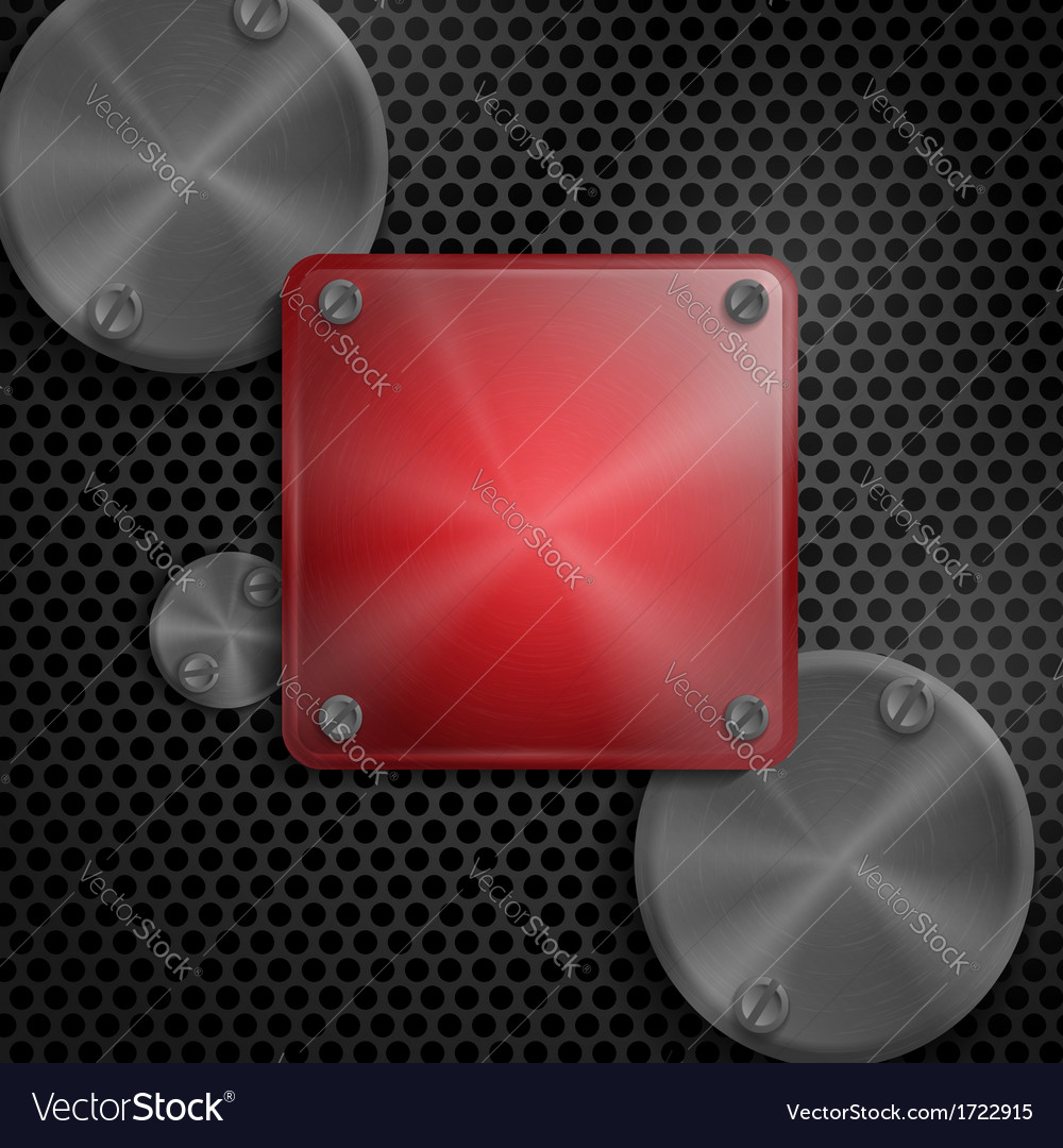Abstract technology metal texture button vector | Price: 1 Credit (USD $1)