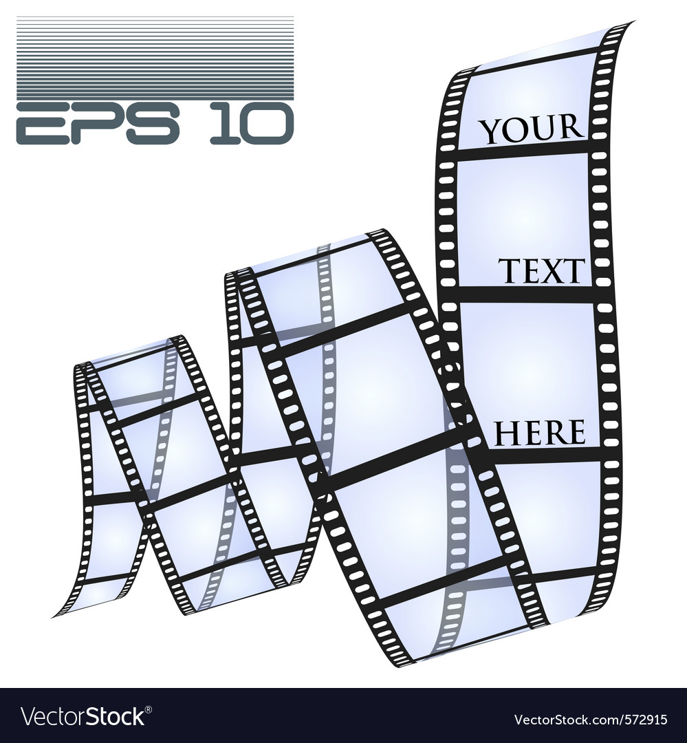 Eps10 filmstrip vector | Price: 1 Credit (USD $1)