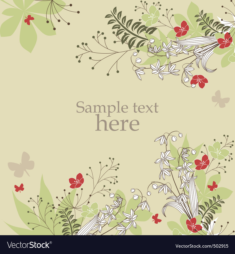 Floral frame with spring flowers vector | Price: 1 Credit (USD $1)