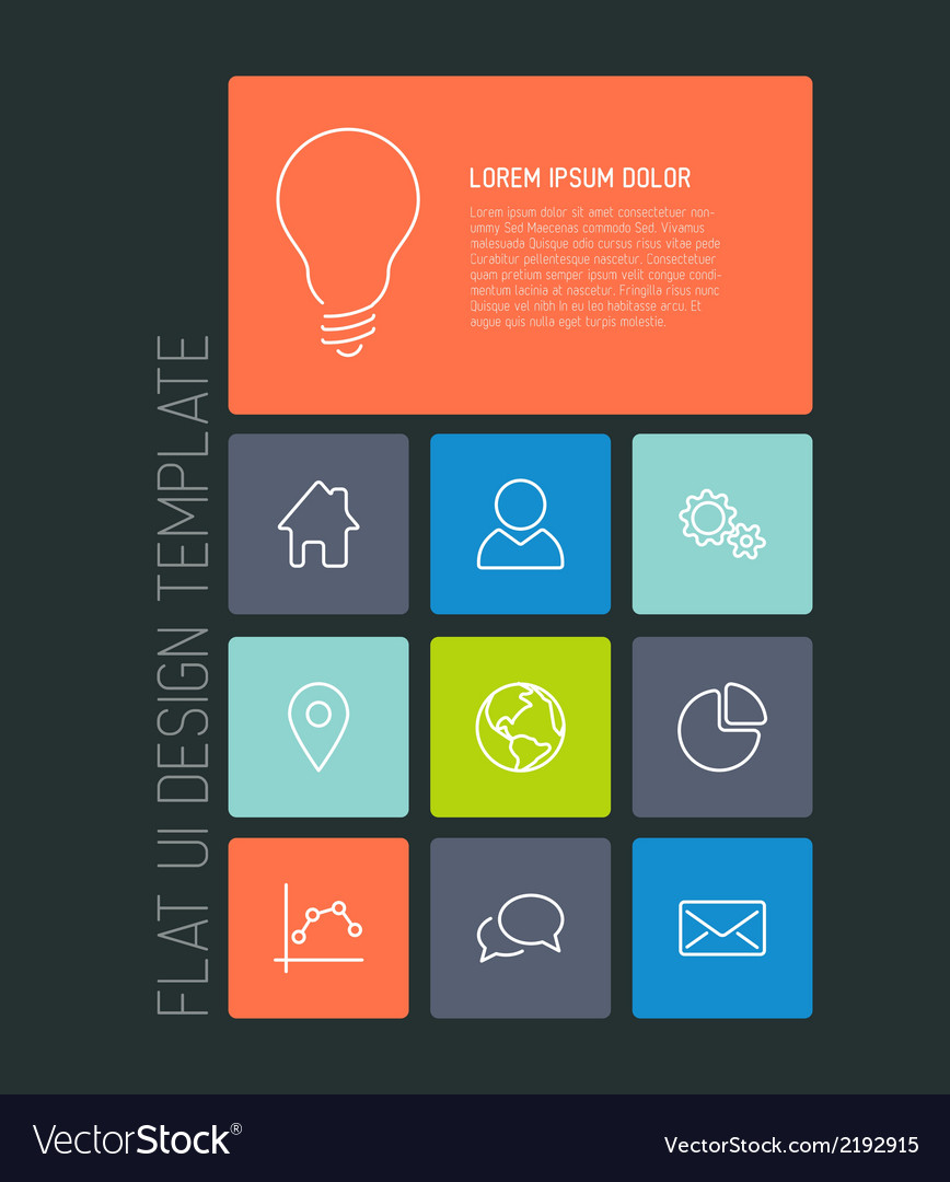 Modern mobile phone flat user interface vector | Price: 1 Credit (USD $1)