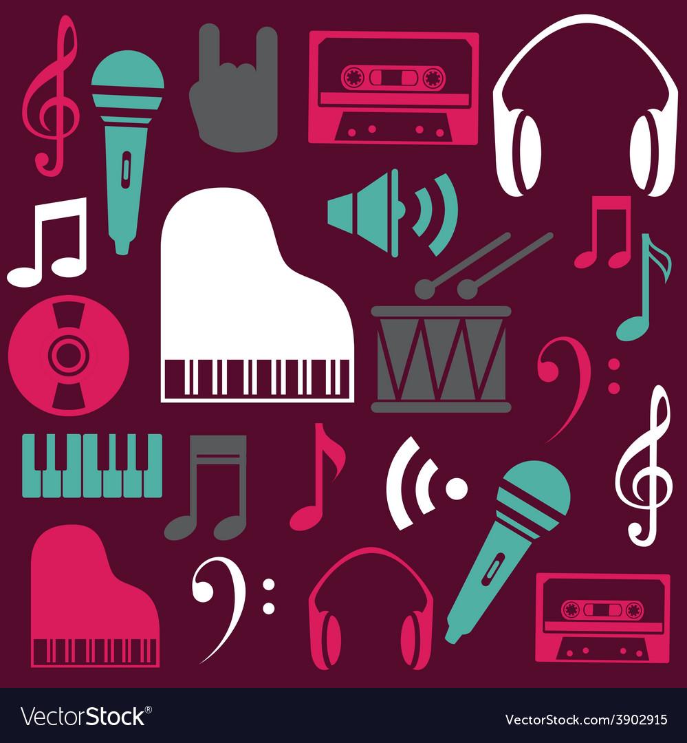 Music design over purple background vector   Price: 1 Credit (USD $1)