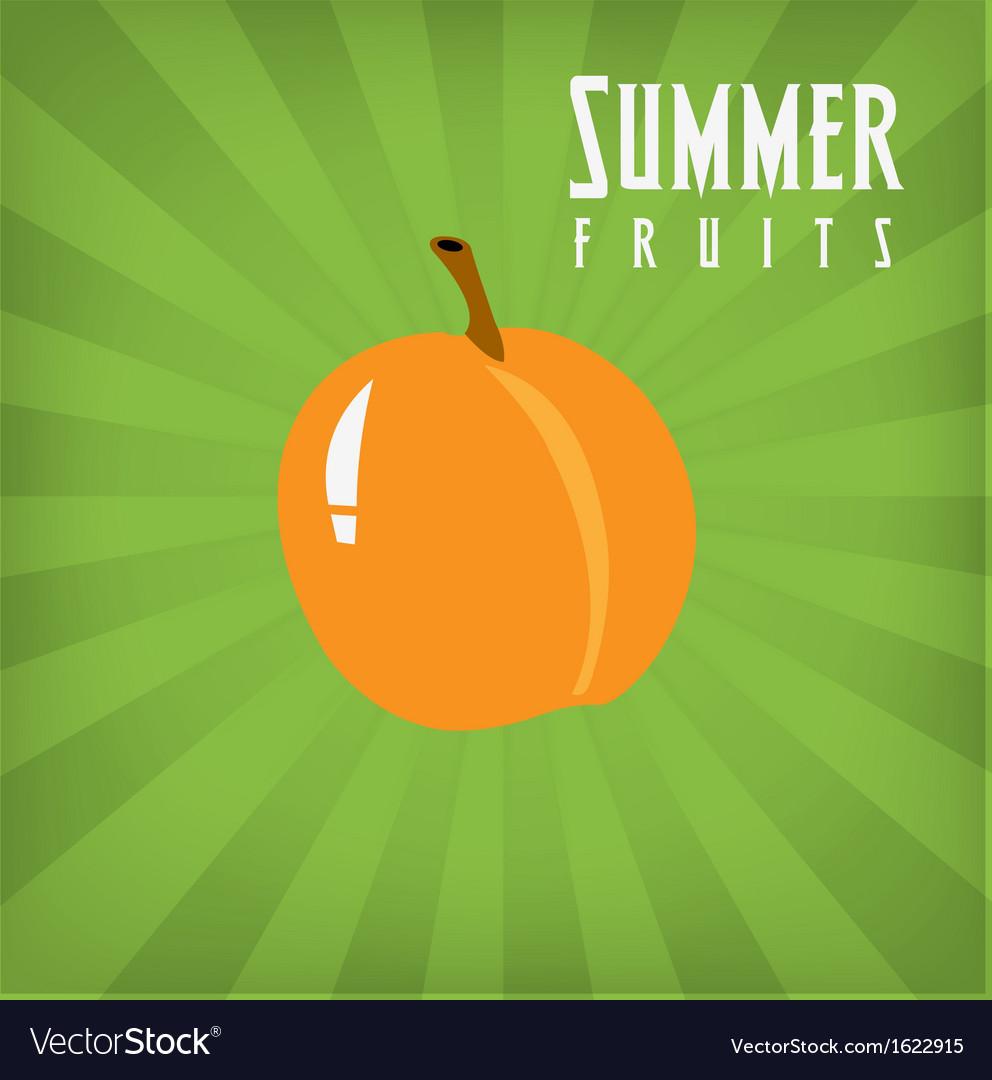Peach vector | Price: 1 Credit (USD $1)