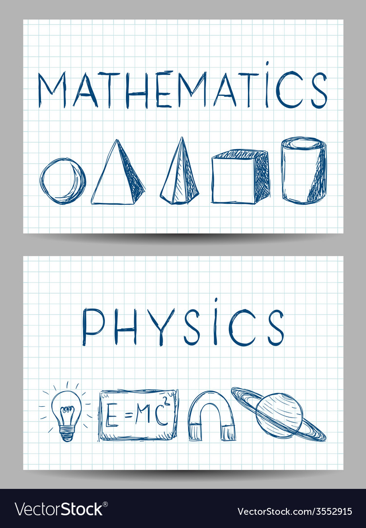 Set of science banners vector | Price: 1 Credit (USD $1)