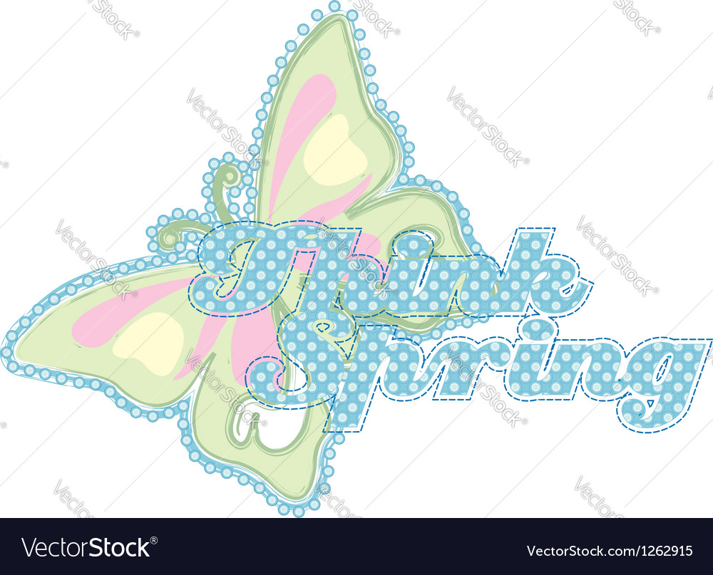 Think spring butterfly vector | Price: 1 Credit (USD $1)