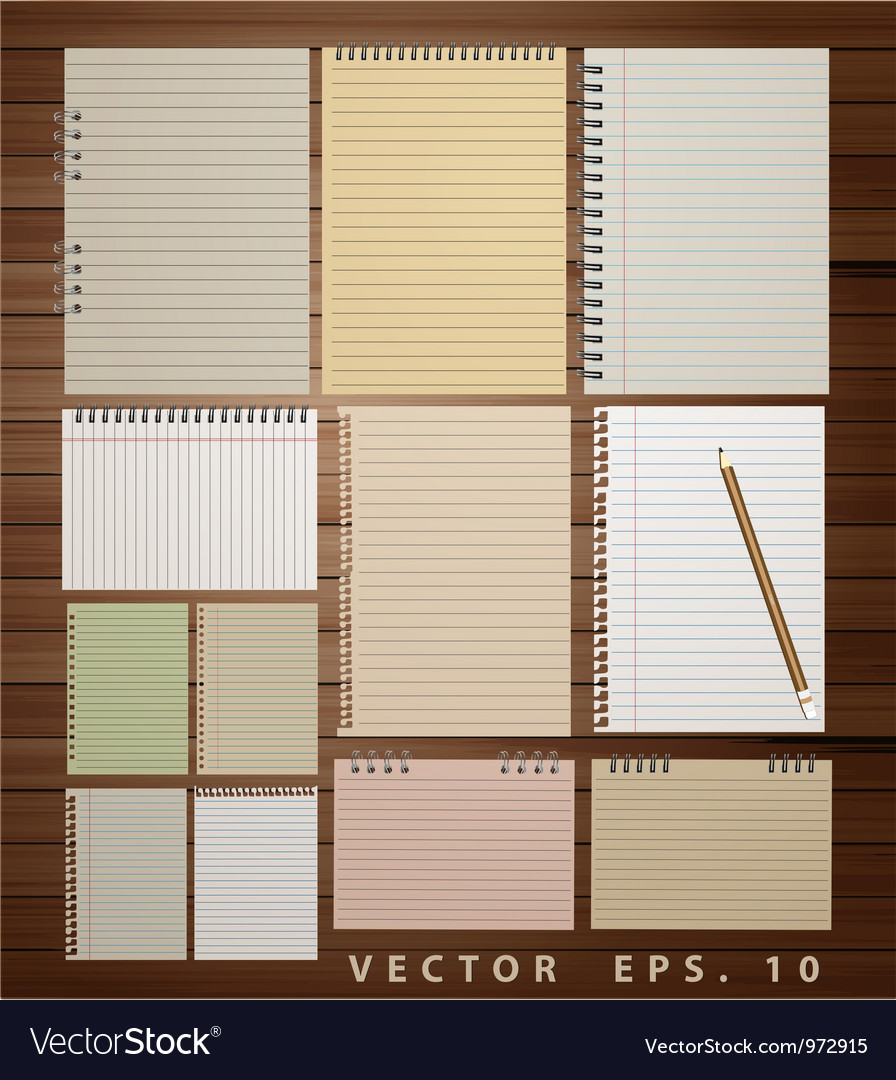 Vintage paper on wood vector | Price: 1 Credit (USD $1)