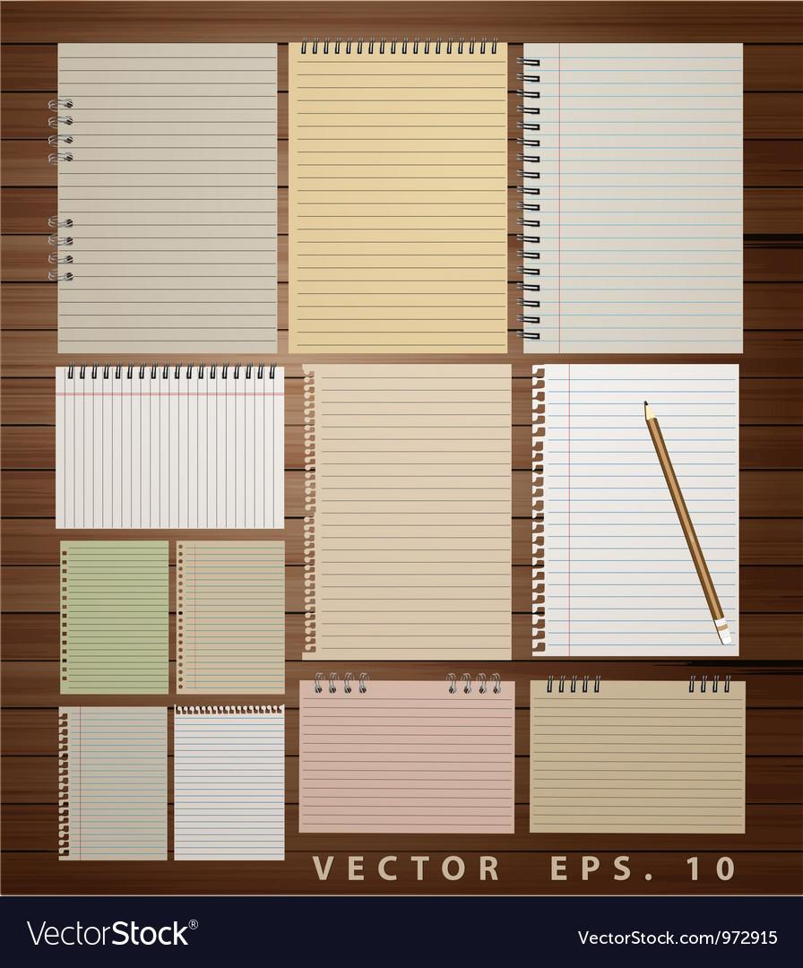 Vintage paper on wood vector | Price: 1 Credit (USD $1)