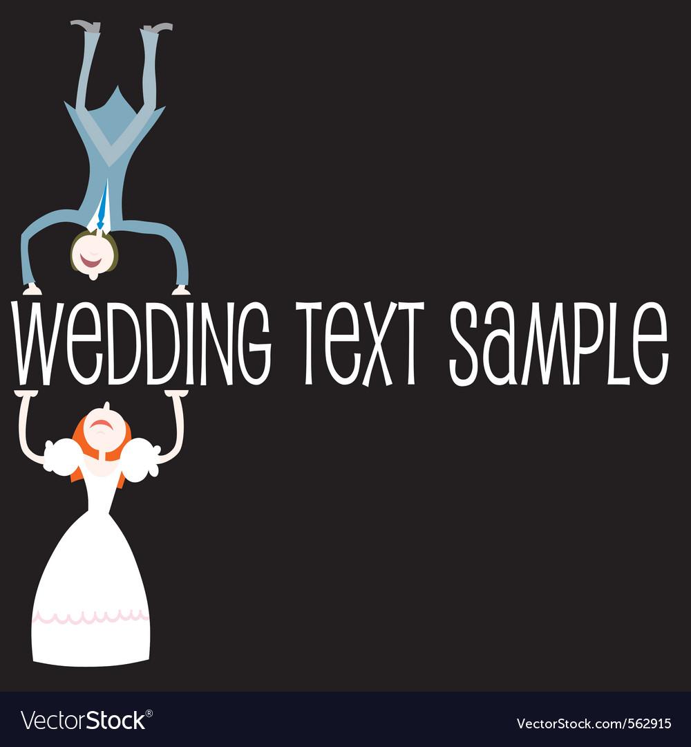 Wedding cartoon couple vector   Price: 1 Credit (USD $1)