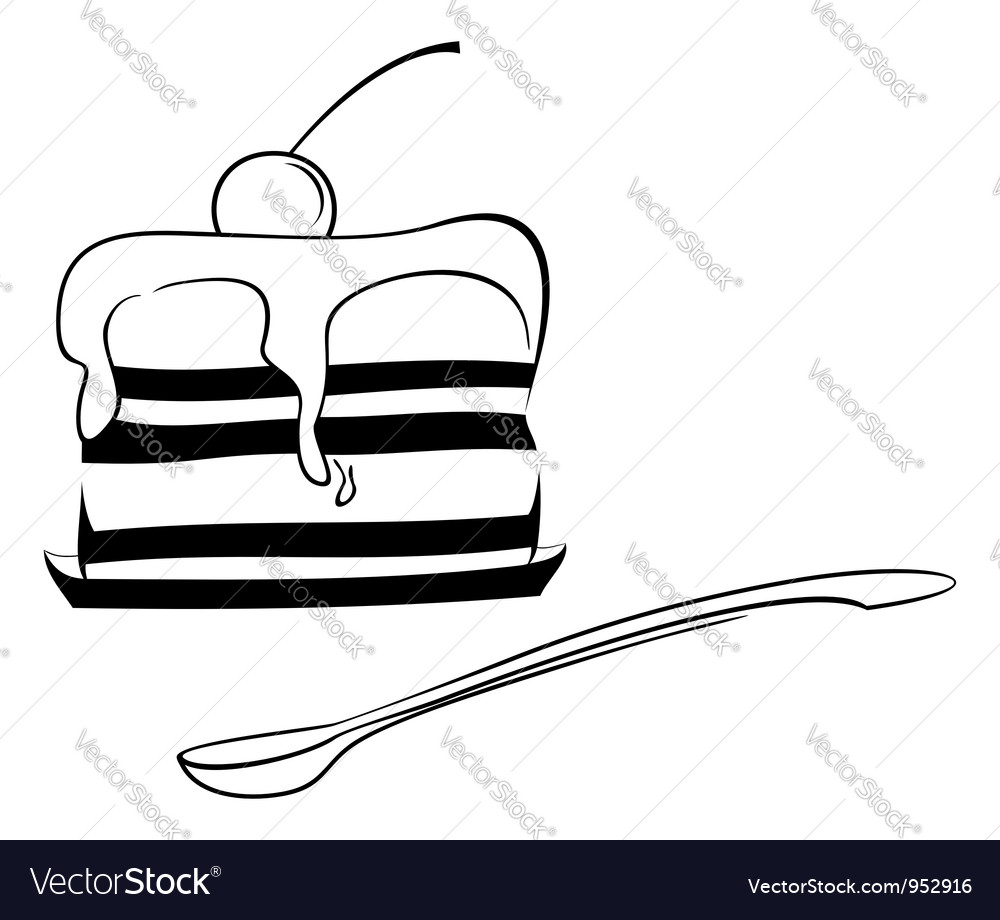 Dessert sketch vector | Price: 1 Credit (USD $1)
