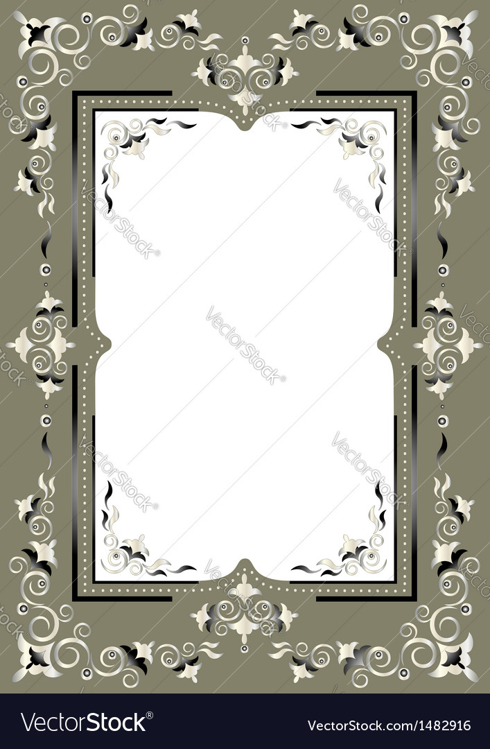 Frame with eastern decor vector | Price: 1 Credit (USD $1)