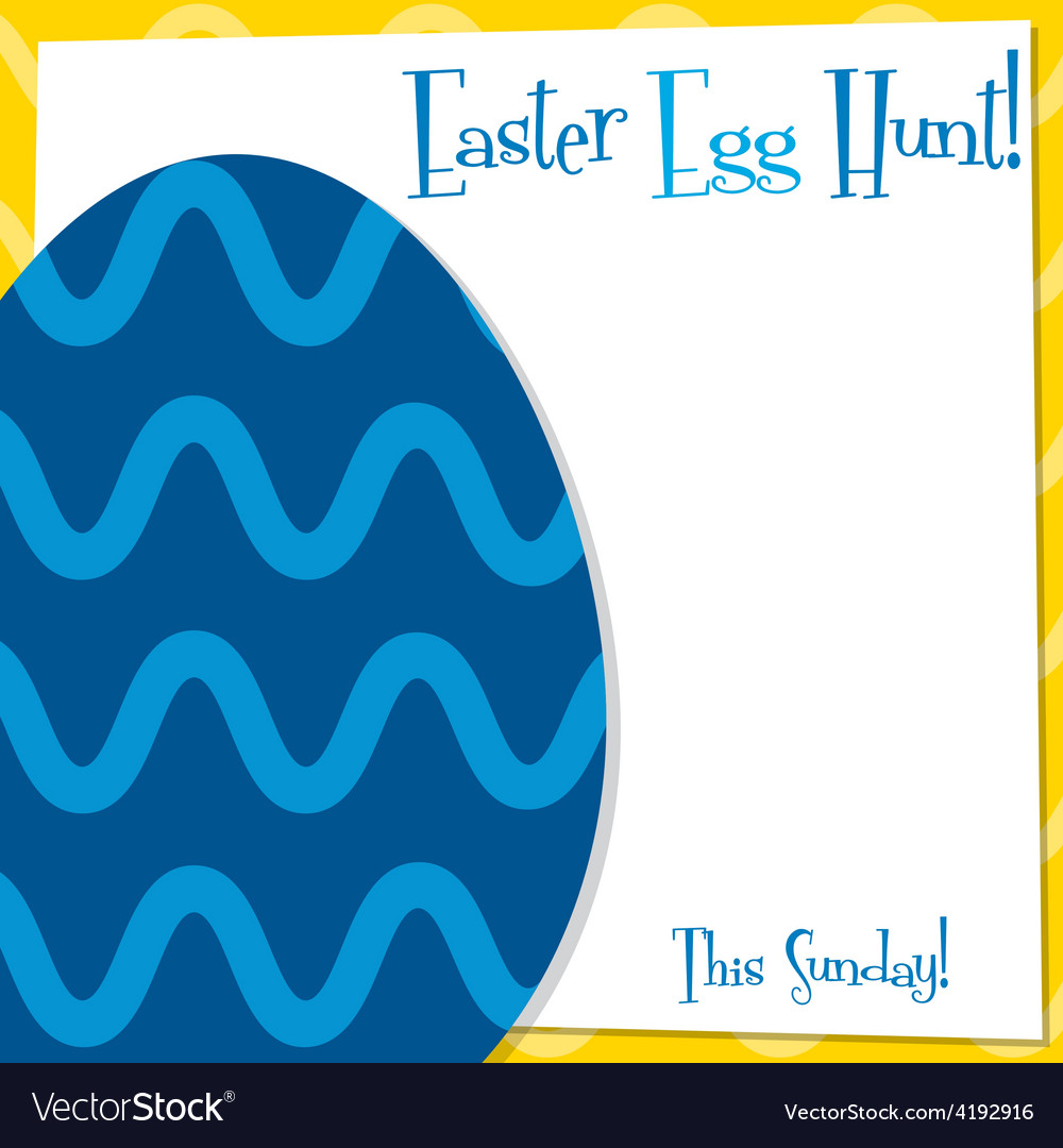 Funky easter egg card in format vector | Price: 1 Credit (USD $1)