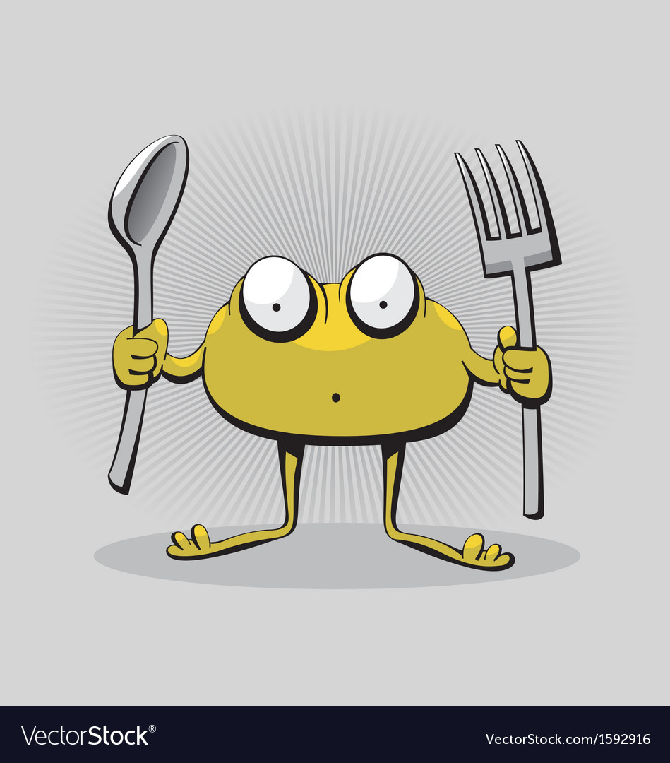 Hungry monster vector | Price: 1 Credit (USD $1)