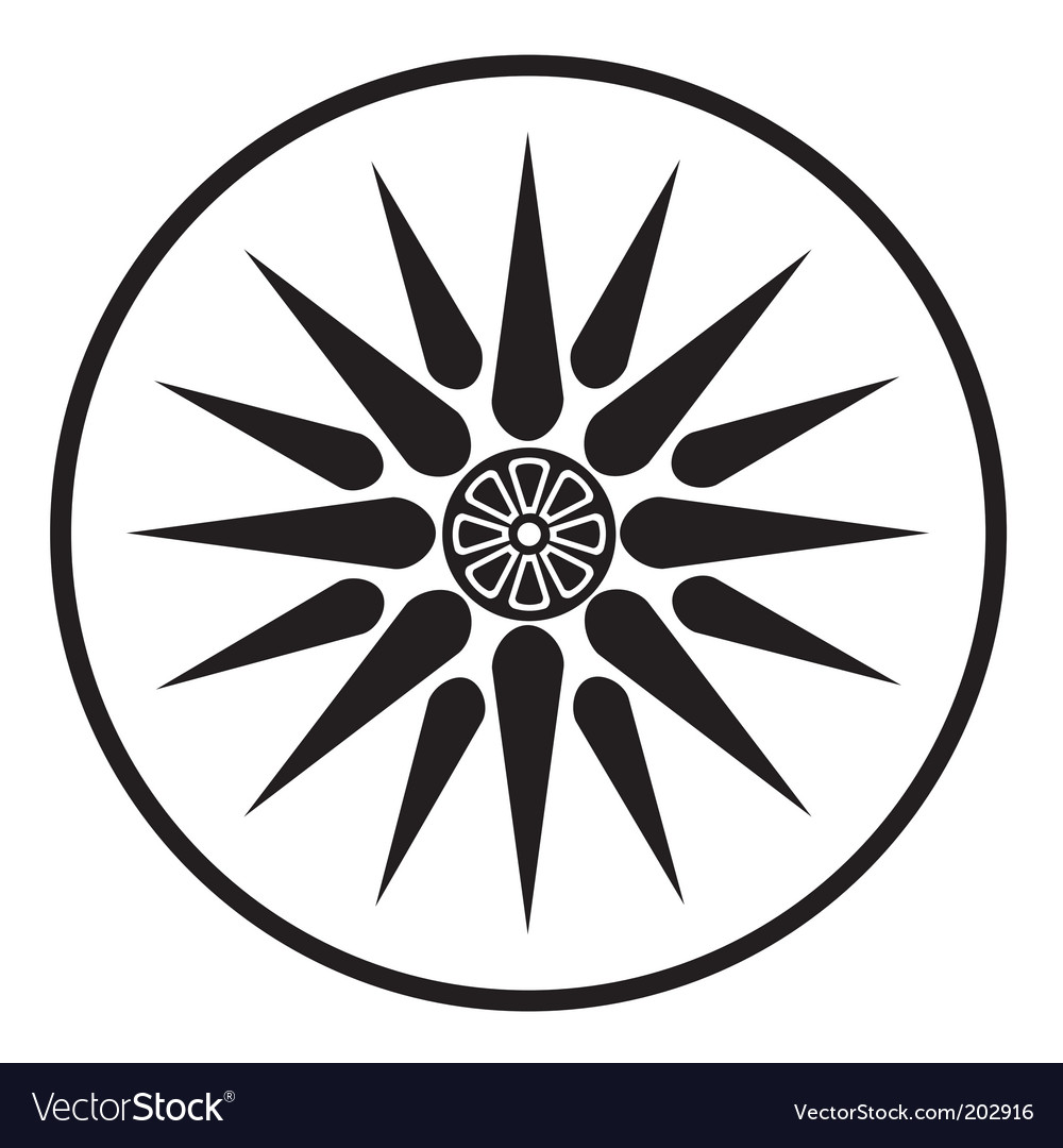 Macedonia symbol vector | Price: 1 Credit (USD $1)