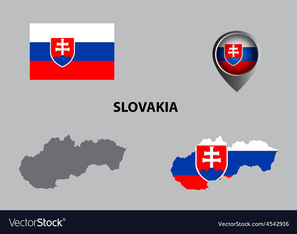 Map of slovakia and symbol vector | Price: 1 Credit (USD $1)