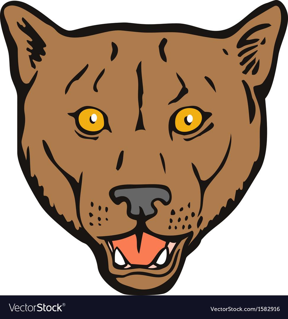 Puma woodcut retro vector | Price: 1 Credit (USD $1)