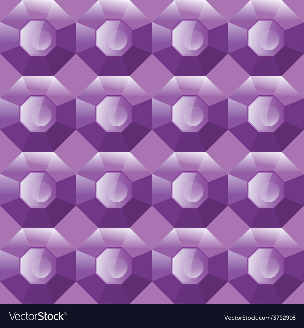 Seamless background of purple gemstones vector | Price: 1 Credit (USD $1)
